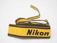 Nikon Wide Yellow and Black Camera Neck Strap
