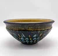 Vintage Keramikschale, Schüssel, Schale aus Keramik Handbemalt - Schwarz #K103