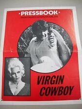 """LARGE 11X14 INCH PRESSBOOK FOR THE CHEESY WESTERN """"VIRGIN COWBOY"""" W/LIZ RENAY!"""