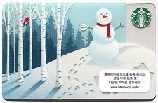 Starbucks KOREA 2013 Christmas Snowman Card