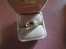 NIB GORGEOUS! LADY'S  Ring Size 6 RED STONE REAL GARNET BIRTHSTONE WITHOUT BOX.