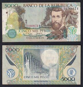 Colombia 5000 pesos 2001 BB/VF P.452a  B-01