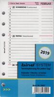 Bind System A6 2019 Kalendereinlage 1Woche/2Seiten multil. Wochenblätter B260219