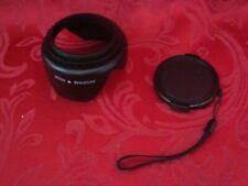 DC (II) 58mm Black Plastic Camera Lens HOOD & Black Plastic Pinch Snap Lens Cap