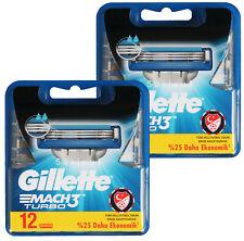 24x Gillette Mach 3 Turbo Rasierklingen Klingen Pack 2x 12 OVP Set razor blades
