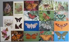18 Postcards of various Butterflies and Moths.