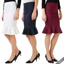 Polyester Fishtail Casual Skirts for Women