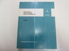 1973 Mercedes Benz Series 116 Chassis Body Service Manual Volume 2 FADING WORN