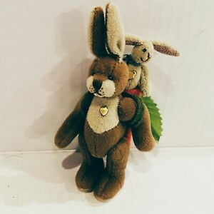 Bunnykin Benny Ganz Cottage Collectibles Artist Signed Lorraine Churn Handmade