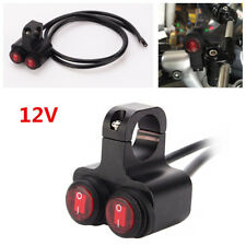 12v Motorcycle ATV 7/8'' Handlebar Red Light 2 Way Headlight Waterproof Switches
