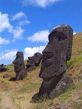 LANDSCAPE EASTER ISLAND STONE HEAD MOAI LARGE POSTER ART PRINT BB3067A