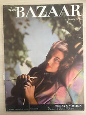 Magazine Harper's BAZAAR US January 1943 Today's Women Collection Vintage Mode