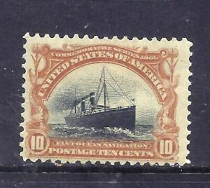 US Stamps - #299 - MH HR - 10 cent Pan-American Expo Issue  - CV $115