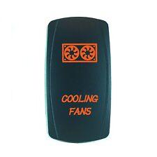 Laser Waterproof Rocker Switch Push Button ORANGE LED COOLING FANS Backlit