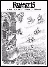 PUBBLICITA' 1925 BOROTALCO ROBERT'S CAMPANE BELL CITTA' VATICANO SAN PIETRO ROMA