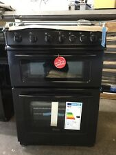 Swan SX2061B 60cm Wide Gas Double Oven Cooker - Black / NEW