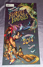 FAIRYTALE FANTASIES CALENDAR COVER~SIGNED BY J SCOTT CAMPBELL (ON WHITE TIP-IN)~