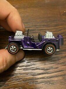 Hot Wheels Redline 1969 Grass Hopper Purple Mint -No Plastic Top