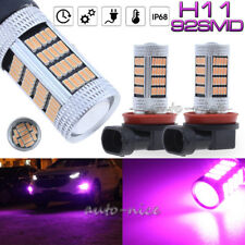 2Pc 92SMD Pink Purple H11 H8 H9 High Power LED Projector Driving Fog Light Bulbs