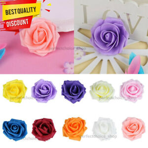Foam Mini Roses WHOLESALE Heads Buds Small Flowers Wedding Home Party Decor UK