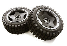 OBM-1643 Type 66067-120 Front Wheel & Tire Set (2) for HPI 1/5 Baja 5B & 5B2.0