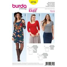 139dfe19fdfe Burda Young Super Easy SEWING PATTERN 6716 Misses Plus Size Dress   Top 16-