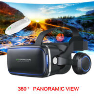 Virtual Reality VR Box Headset Goggles 3D Glasses With Remote For Android iPhone