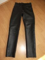"REAL LEATHER MOTORCYCLE MOTORBIKE TROUSERS SIZE WAIST 28"" X LEG 31"""