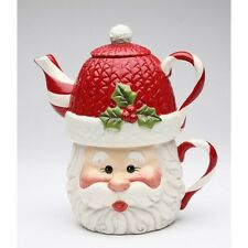NEW I BELIEVE: SANTA CUP,BASE,STAND UNDER TEAPOT TEA FOR ONE COLLECTIBLE-10639