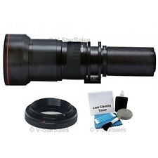 Vivitar 650-1300mm Telephoto Zoom Lens for Canon XS XSi XT XTi 1100D 650D 700D