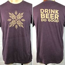 Ex Novo Brewing Company Pdx Drink Beer Do Good T-Shirt Xl/Large Fit Mens 45in