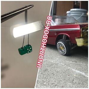 Redcat Sixty four Impala Jevries Rc Lowrider rearview mirror Green Dice