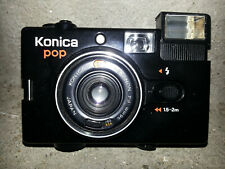 KONICA POP BLACK VINTAGE CAMERA HEXANON F4 36mm LENS