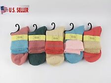 NEW 5 Pairs Womens Rabbit Wool Warm Soft Thick Casual Multicolor Winter Socks