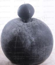 100% Latex Gummi Aufblasbar Blowup Catsuit Maske Hood Ganzanzug Schwarz Kostüm