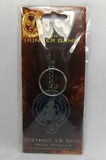 The Hunger Games District 12 Seal Metal Keychain Keyring NECA *New
