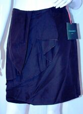 CYNTHIA ROWLEY New York CHOCOLATE Brown DRAPED Front SKIRT 12 Free Shipping