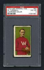 PSA 4 1910 C60 LaCROSSE CARD #62 W. TURNBULL