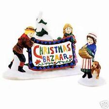 Dept 56 New England Village Christmas Bazaar Sign 56598