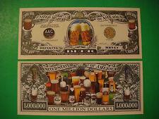 Oktoberfest BEER Drinking ~ $1,000,000 One Million Dollar Bill United States USA