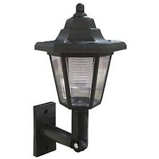 X1 LED SOLAR POWER WALL LANTERN LAMP SUN LIGHTS BLACK OUTDOOR MOUNT GARDEN