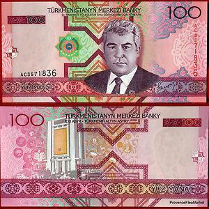 Turkmenistan Grand Ticket New Of 100 Manat Pick18 Very Beautiful