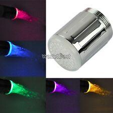 Eau Chaude Brille douche salle de bain Multicolore LED Robinet Clair évier Tap
