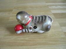 Köhler Katze mit Ball Blechspielzeug Germany U.S.-Zone Uhrwerk Lithographiert