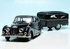 SCHUCO 1/43   BMW 502 Sedan with Westfalia funeral trailer / Hearse