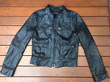 Just Jeans Black Leather Jacket Size 10