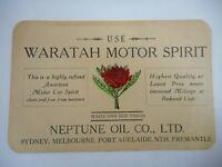 ORIGINAL USE NEPTUNE WARATAH MOTOR SPIRIT BLOTTER CARD