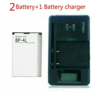 New Battery For Nokia BP-4L E52 E55 E61i E63 E71 E72 E90 N97+Battery charger