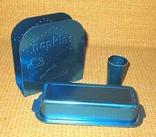 Tedgro Denver | VINTAGE Blue Aluminum Napkin Holder Butter Dish Toothpick Cup