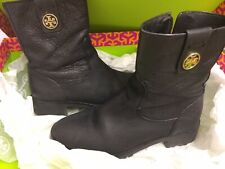 **Used** Tory Burch black ankle boots size 36/UK 3